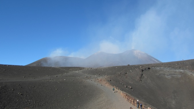 The tippy top of Mt. Etna.