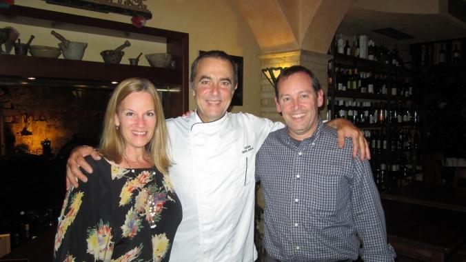 With Turi Siligato at Osteria Nero D'Avola