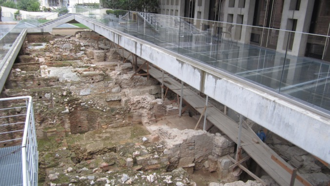 The dig under the Acropolis Museum