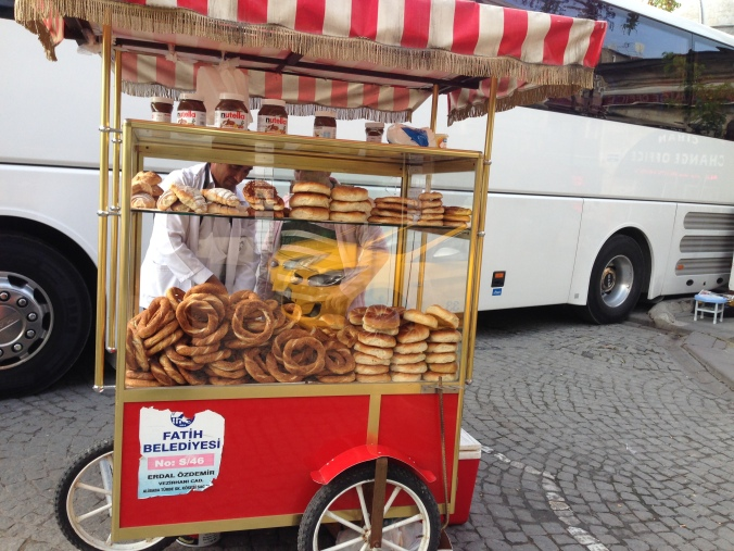 A humble simit cart
