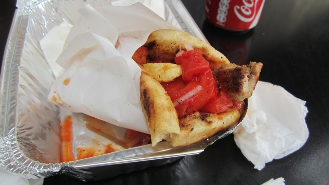 Cheap, fast, and delicious. Souvlaki!