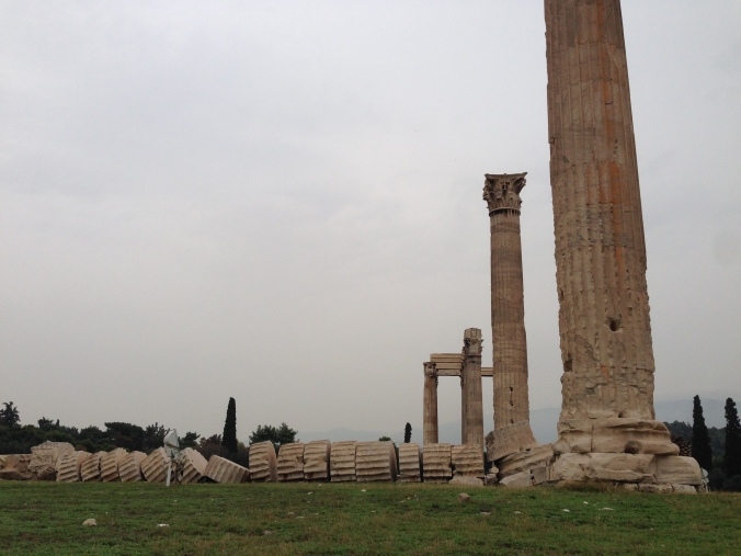 Temple of Olympian Zeus. Who thinks they should pick up the column? I'm on the fence.