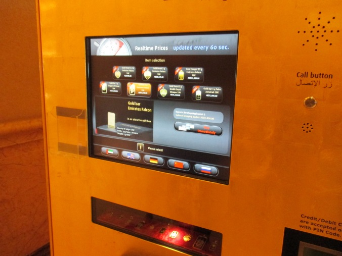 Yep, a gold vending machine.