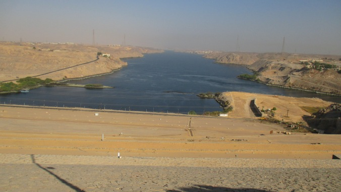 The Nile, below the Aswan High Dam.
