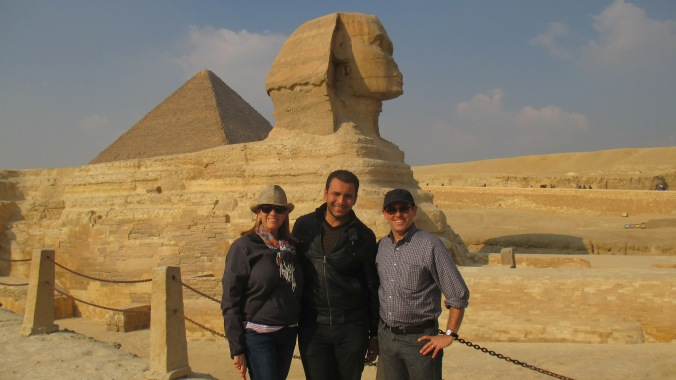 With our guide Mina at the Sphinx.