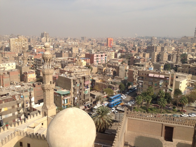 The view from the top of the minaret at the Ibn Tulun Mosque in Cairo. The view was well worth the small tip I gave the fellow who unlocked the door to the minaret.