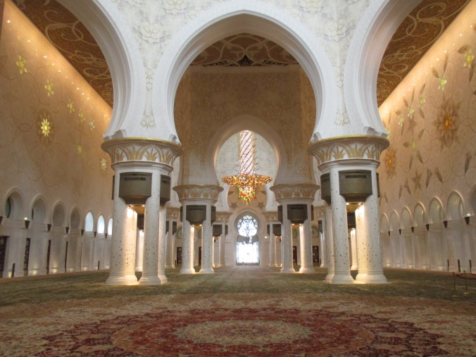Inside the Grand Mosque, Abu Dhabi