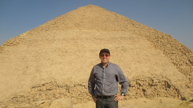 Your humble correspondent at the Bent Pyramid