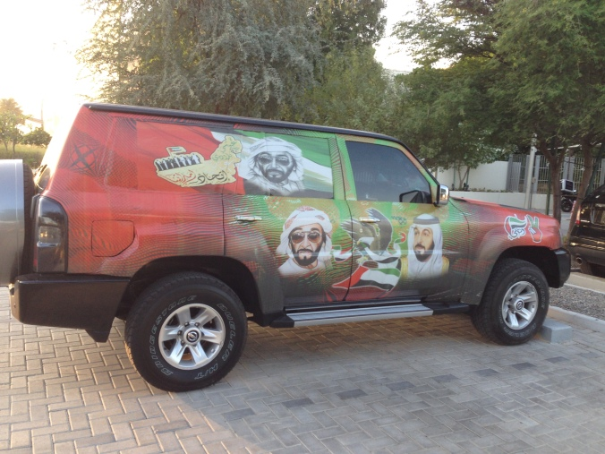 National pride, UAE style.