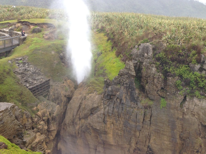 Crazy blowholes at Punakaiki. Almost NFW.