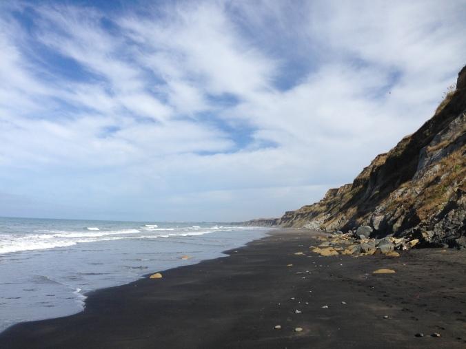 The sand was amazingly fine - like powdered sugar, but black.