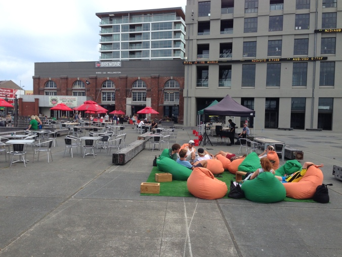 The Wellington waterfront ain't beanbag - wait, yes it is.
