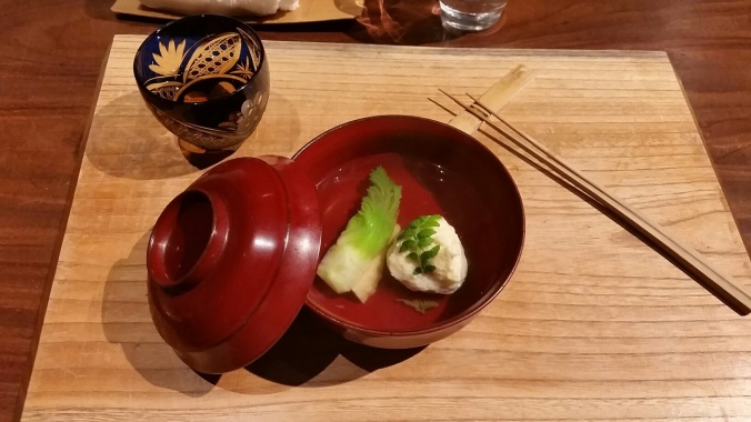 Japanese fish dumpling soup - not like grandma used to make, unless your grandma is an audacious 38 year-old Kyoto chef.