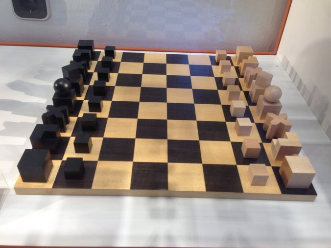 A Bauhaus chess set - the pieces tell you how they move.