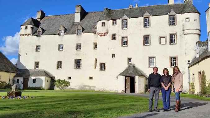 With Lady Catherine Maxwell, the 21st Lady of Traquair.