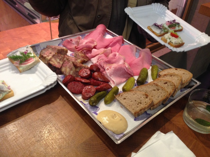 "The butcher plate at ""Our Meat."" Have you noticed how I've restrained myself from making a joke about a place called ""Our Meat""?"