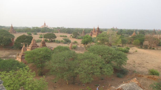 Temples as far as the eye can see. There are over two thousand in Bagan.
