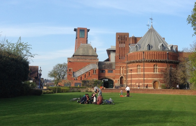 The Royal Shakespeare Company in Stratford upon Avon, where we saw that great Shakespeare play, Death of a Salesman.
