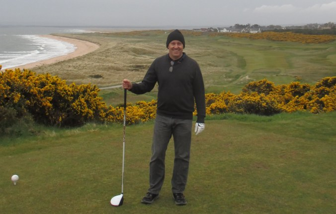 At Royal Dornoch, just before the rains hit.