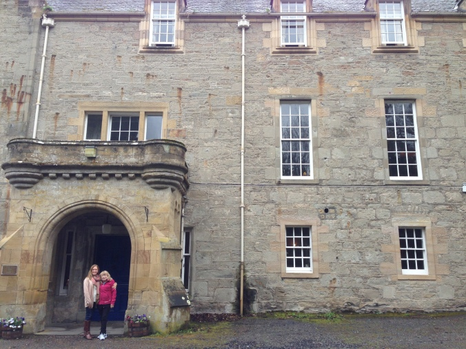 My mom and Janine outside the probably not haunted Tulloch Castle Hotel.